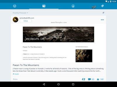 نرم افزار رسمی وردپرس برای اندروید WordPress v7.5.1