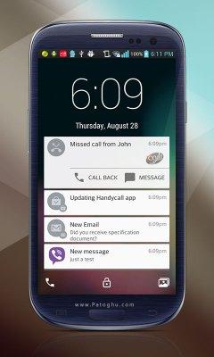 دانلود قفل صفحه اندروید 5 ( اندروید ال ) Lollipop Lockscreen Android L v1.72