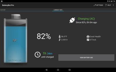 مانیتورینگ و نمایش اطلاعات باتری اندروید BatteryBot Pro 9.0.1