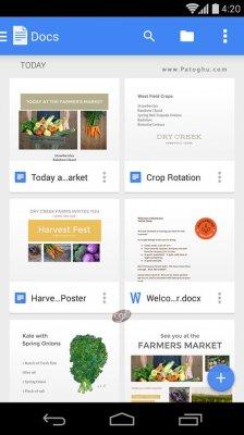 دانلود گوگل داکس برای مدیریت اسناد در اندروید Google Docs 1.7.392.04