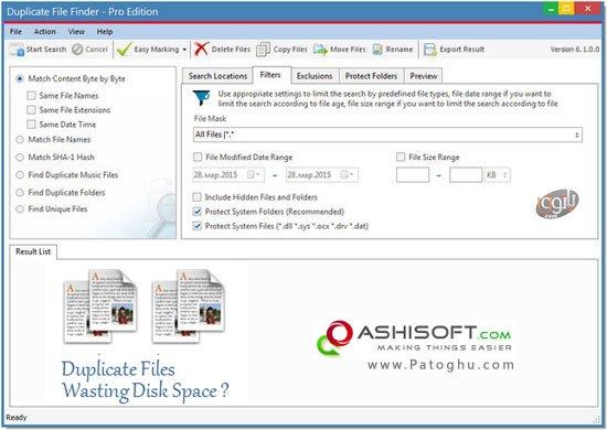 ashisoft duplicate file finder serial