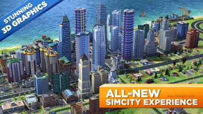 دانلود سیم سیتی بازی شبیه ساز شهر سازی برای اندروید SimCity BuildIt 1.15.29.51318