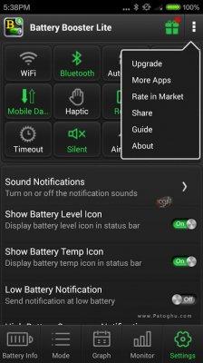 بهینه سازی و کاهش مصرف باتری اندروید Battery Booster v7.2.5