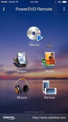 کنترل نرم افزار PowerDVD از طریق گوشی اندروید PowerDVD Remote 3.1