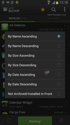 پشتیبان گیری از نرم افزار و بازی های نصب شده در اندروید App Backup & Restore Pro 1.2.5