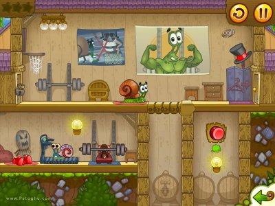 دانلود بازی کم حجم و فکری باب حلزون 2 برای کامپیوتر Snail Bob 2