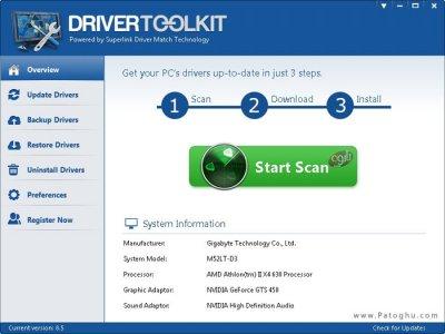 اسکن و آپدیت درایورهای کامپیوتر Driver Toolkit 8.5