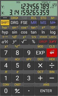 ماشین حساب حرفه ای برای اندروید RealCalc Plus 2.3.0