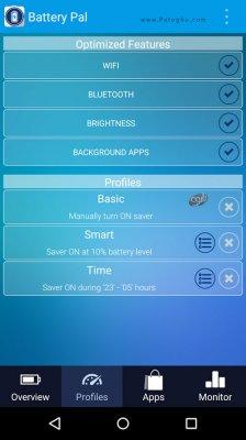 بهینه سازی و کاهش مصرف باتری برای اندروید Battery Pal 1.6