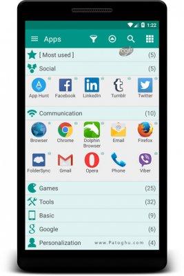 مدیریت و دسته بندی نرم افزارها در اندروید Glextor App Mgr & Organizer v4.0.2.339