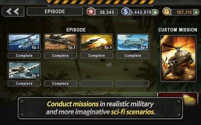بازی هلیکوپتر جنگی سه بعدی برای اندروید 2.5.60 GUNSHIP BATTLE Helicopter 3D