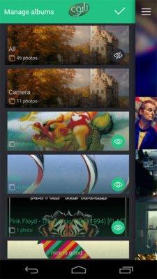 نرم افزار گالری برای اندروید Piktures Gallery Photo & Video v2.5.457