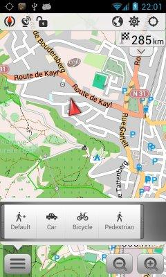 مسیر یاب آفلاین اسماند همراه با نقشه ایران برای اندروید OsmAnd+ Maps & Navigation v2.7.5