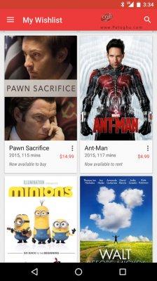 دانلود گوگل پلی مووی برای اندروید Google Play Movies & TV v3.10.9