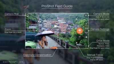 نرم افزار پروشات برای عکاسی و فیلمبرداری پیشرفته در اندروید ProShot 5.6.2
