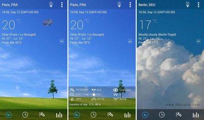 Transparent Clock Weather Pro v1.01.01 نرم افزار ساعت و نمایش وضعیت آب و هوا برای اندروید