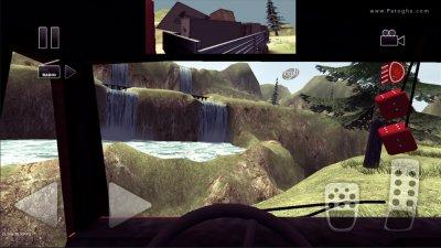 بازی شبیه ساز رانندگی کامیون در جاده های سخت برای اندروید Truck Driver crazy road 1.13B