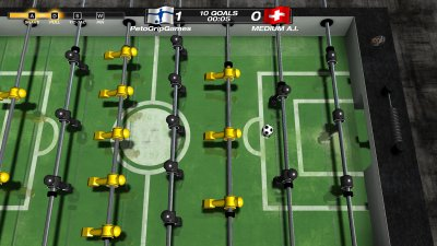دانلود بازی کم حجم تور جهانی فوتبال دستی برای کامپیوتر Foosball World Tour