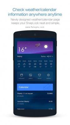 قفل صفحه زیبا و کاربردی برای اندروید SnapLock Smart Lock Screen v5.4.1