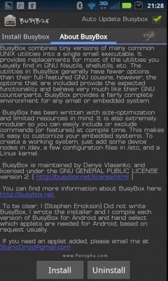 نصب و حذف آسان نرم افزار بیزی باکس در اندروید BusyBox Pro v56