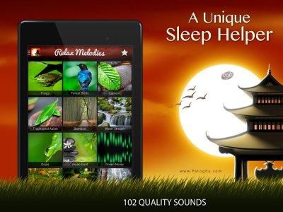 نرم افزار صداهای آرام بخش برای خواب و مدیتیشن برای اندروید Relax Meditation Premium: Sleep Sounds v2.4.5