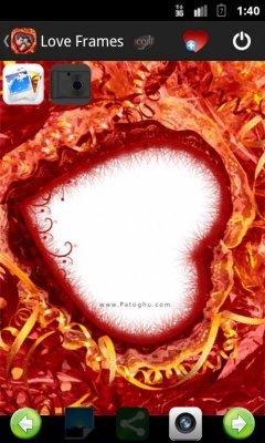 افزودن قاب عکس و فرم های رمانتیک به تصاویر در اندروید Romantic Love Photo Frames 2.0.10