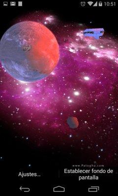 لایو والپیپر زیبای کهکشان برای اندروید 3D Galaxy Live Wallpaper Full v1.74