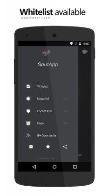 بهینه سازی مصرف شارژ و عمر باتری اندروید ShutApp Premium - Real Battery Saver v2.61
