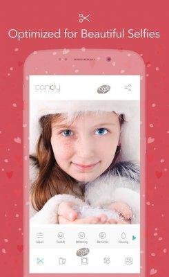 دانلود کندی کمرا ابزار دوربین اندروید با افکت های متنوع Candy Camera for Selfie v3.30