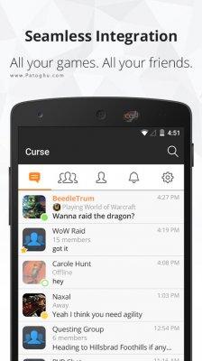 دانلود مسنجر کورس Curse 1.2.2 مسنجر مختص گیمرها برای اندروید