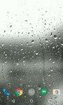 پس زمینه زنده قطران باران روی صفحه گوشی اندروید Raindrops 3D Live Wallpaper v2.0