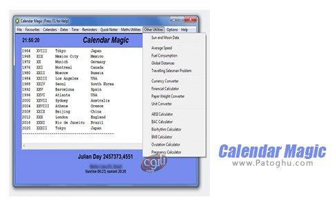 دانلود نرم افزار Calendar Magic برای ویندوز