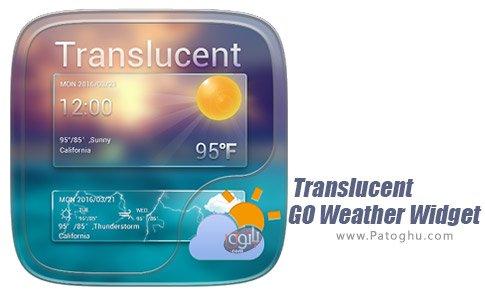 دانلود نرم افزار Translucent GO Weather Widget برای اندروید