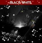 دانلود نرم افزار Black&White GO Launcher Theme برای اندروید