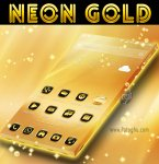 دانلود نرم افزار Neon Gold Theme GO Launcher برای اندروید