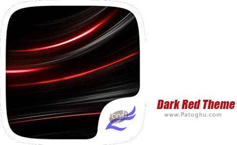 دانلود نرم افزار Dark Red Theme برای اندروید