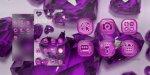 دانلود نرم افزار Purple Crystal Heart Theme برای اندروید