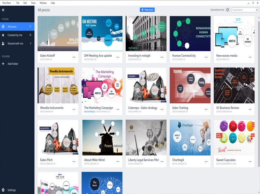 how to download prezi next online